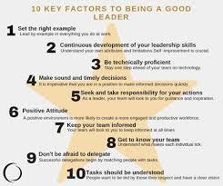 Define Team Leader 10 Key Factors Of Being A Good Leader Collingwood