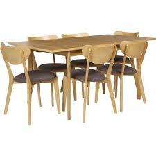 cosgrove extendable oak dining table and 6 charcoal chairs. hygena merrick oak table and 6 charcoal chairs at homebase -- be inspired make cosgrove extendable dining