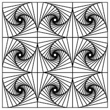 Geometric Coloring Pages For Adults Free Free Coloring Book