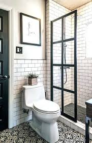 black framed shower doors medium size of bathroom coastal with simple nickel frame and clear glass