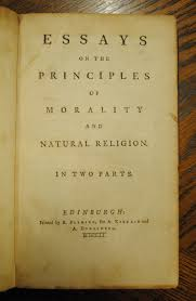 Essays On The Principles Of Morality And Natural Religion By Lord