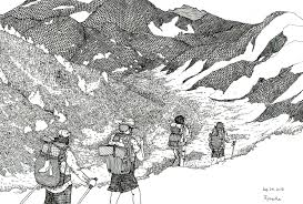 Japanese Artist And Thru Hiker Ryosuke Kawato Draws The Pct