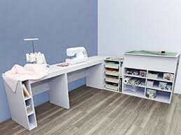 Sewing room furniture can be mixed and matched