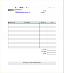 Template Receipt Template Editable Blank Invoice Template