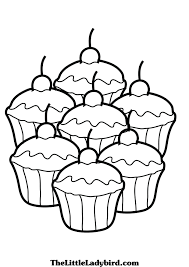 Small Picture Cupcake Coloring Page Free Printable Coloring 4113