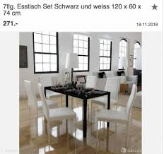 Black Friday Esstisch Set Schwarz Und Weiss In Zug Kaufen