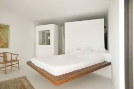 modern minimalist bedroom furniture. Modern Minimalist Bedroom Interior Design Ideas With White Mattress On Floating Wood Bed Furniture