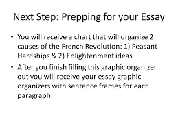 french rev essay next step prepping for your essay you will french rev essay 2 next
