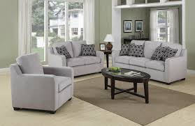 Transitional Style Living Room Furniture Charlotte Transitional Chenille Grey Sofa With Modern Accent