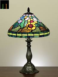 details about autumn 12 tiffany sun flower style art deco stained glass table lamp