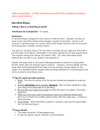 introduction to narrative essay narrative essays examples for high school