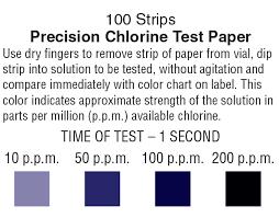 Chlorine Test Paper Precision Laboratories