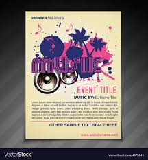 Music Brochure Music Brochure Flyer Poster Template Design Vector Image 10