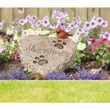 precious moments pet memorial 8 in x 7 in resin garden stone
