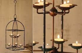 industrial farmhouse hanging iron candle chandelier
