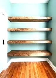 Cherry Wood Floating Wall Shelves