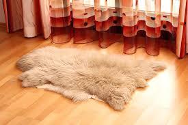 faux mongolian fur rug beige sheepskin
