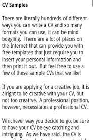 CV Examples- screenshot