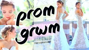 my makeup by prom get ready with me hair makeup dress 2016 mice reed