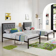 Mia Bedroom Furniture Modway Mia Fabric Bed Frame In Brown And Gray Beyond Stores