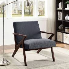 Your living room isn't complete without your favorite chair; Nspire Beso Modern Occasional Fabric Accent Chair In Grey With Solid Pattern The Home Depot Canada