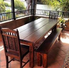 8 ft dining table 8ft outdoor farmhouse rustic tables los and chairs pool walnut trestle round