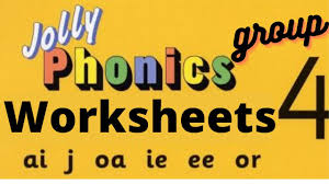 These free worksheets are printable and designed to accommodate any lesson plan for reading that includes phonics. Jolly Phonics Worksheets Group 4 For Lkg Ukg Grade 1 Letter Formation Kindergarten Preschool Youtube