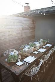 luxurious dining experience on an outside patio
