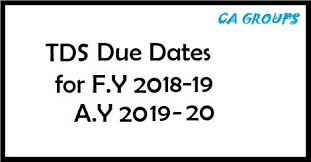 Tcs Rate Chart For Fy 2018 19 Tds Rates Chart For Fy 2018 19 Ay 2019 20 Aca Sourav Bagaria