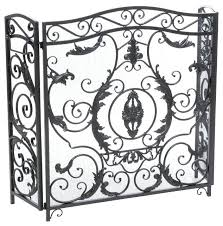 victoria beveled glass fireplace screen fl iron home design