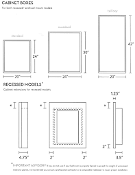 Medicine Cabinet Sizes | MF Cabinets