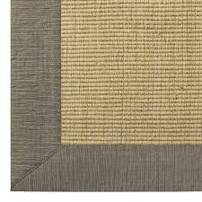 gray sofa with sisal rug post crate and barrel linen texture border wool 6 colors for