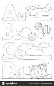 Alfabet Letters Kleurplaat Stockvector Pupahava 149355418
