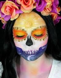 sunset sugar skull makeup