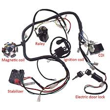 amazon com jrl 150cc gy6 wiring harness wire loom stator cdi switch amazon com jrl 150cc gy6 wiring harness wire loom stator cdi switch electrics assembly for 4 stroke engine 150cc 125cc go kart atv scooter buggy