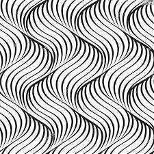 Line Pattern Design Wavy Line Seamless Pattern Geometric Fabric Print Texture