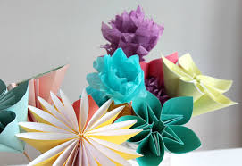 Paper Art Flower Make A Bouquet Of Beautiful Paper Flowers For Mothers Day