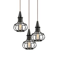 pumpkin bottle shaped caged pendant light cage made from metal with cone black fitting cage pendant lighting