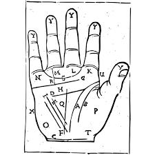 Palm Reading Chart Free Svg