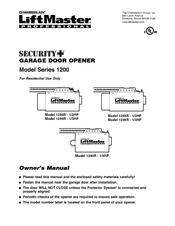 liftmaster garage door opener troubleshootingChamberlain LiftMaster 1255R  12HP Manuals