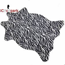 icocopark zebra leopard giraffe tiger cow print rug faux cowhide tricolor cowhide rug 10 style 2