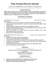 Data Analyst Resume Unique Data Analyst Resume Sample Writing Tips Resume Companion