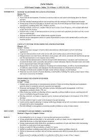 Telecom Resume Examples Telecommunications Engineer Resume Samples Velvet Jobs 41