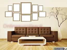 oak 10 piece multi picture frame photo