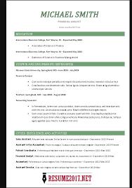 Chronological Resume Format 2017 Resume Builder Template 2017