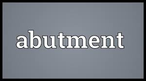 Abutment Definition Abutment Meaning Youtube