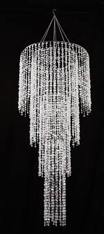 24 large raindrop 4 tiered crystal chandelier