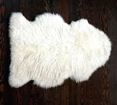 fur rug in ivory mongolian sheep pillow