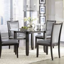 dark wood and gl dining table prestigious dining room ashley furniture gl dining room table ashley