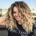 Long blonde curly hair
